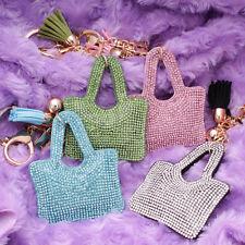 Women 700+ Crystals Rhinestones Bag Handbag Charm Keyring Keychain For Women