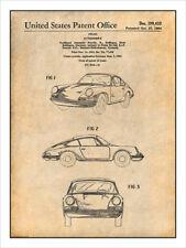 1964 Porsche 911 Carrera Patent Print Art Drawing Poster 18X24