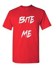 Bite Me Shirt Funny Novelty Tee Original Design Birthday Present Gift Ideas