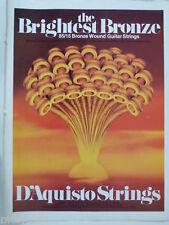 retro magazine advert 1982 D`AQUISTO strings