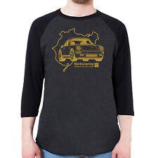 1987 RUF Porsche 911 Yellowbird CTR 3/4 Sleeve Baseball Shirt