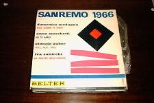 """V/A SAN REMO 1966 SPANISH 7"""" EP SINGLE SPAIN MODUGNO GABER ZANICCHI MARCHETTI"""