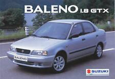 Suzuki Baleno 1,8 GTX Prospekt 1996 Prospekt Autoprospekt Auto Pkw Asien Japan