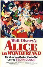 Vintage Alice au pays des merveilles film Poster A1/A2/A3 impression