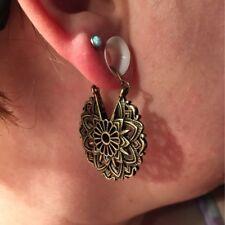 Brass Ornate Gypsy Tribal Ethnic Mandala Earrings Drop Dangle Earring For Women