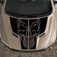 Dodge Ram Skull Rebel 1500 Sport Hood Truck Graphic Decal Vinyl Black Out 2pc