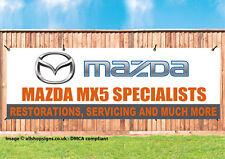 MAZDA MX5 Specialist car garage workshop sign banner SIGN PVC with Eyelets