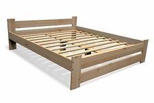 Erhöhtes Bett mit Kopfteil Holz Massivholzbett Seniorenbett Bettgestell natur