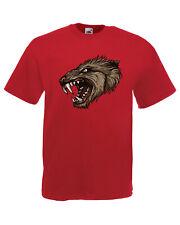 Zombie Horror Wolf Graphic Design Quality t-shirt tee t shirt mens unisex