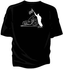 """""""croquis original"""" Drapeau à Damiers Rétro T-Shirt-Classique BSA Bantam"""