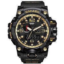 SMAEL Men Sport Watch Dual Display Analog Digital LED Electronic Wrist Watch NEW