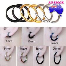 Wholesale 316L Surgical Steel Titanium Anodized Hinged Sleeper Hoop Earrings
