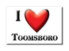 SOUVENIR USA - GEORGIA FRIDGE MAGNET I LOVE TOOMSBORO (WILKINSON COUNTY)