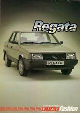 Fiat Regata Saloon Accessories 1984-86 UK Market Foldout Sales Brochure