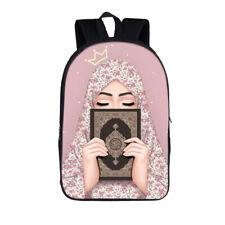 Hijab Islamic Muslim Girl Teenage Backpack Waterproof School Backpack