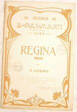 A. LOJERO REGINA MARCIA MUSICA SPARTITI CALMANTI 1931