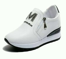 N E W 2019  women genuine leather Wedge High Heel  shoes platform sneakers