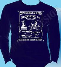 Steve Earle Inspired T-Shirt Copperhead Road Booze Rock Long Sleeve Alt Country