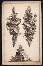 ALLEGORIE ATTRIBUT DE LA MUSIQUE dessinée De La Fosse gravée par Tardieu 1780