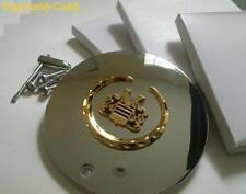 4 Cadillac GOLD Wreath & GOLD Vogue Crest ARELLI CENTER CAPS!!