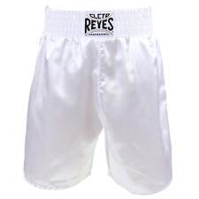 Cleto Reyes Satin Classic Boxing Trunks - White