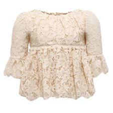 5146W camicia bimba DOLCE & GABBANA ivory girl t-shirt