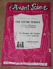 avant scène theatre n° 120  1955 LA LETTRE PERDUE & LE SOUPER DE VENISE