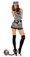 Sexy Adult Halloween Bad Girl Jailbird Prisoner Costume