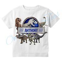 Jurassic World Dinosaurs Custom T-shirt, PERSONALIZE NAME, Birthday, gift,