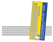 HSS Bohrer 10cm extra lang - 5 Stück - 0,5mm bis 3,0mm Spiralbohrer NEU
