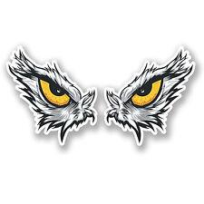 2 x Eagle Eye's Vinyl Sticker iPad Laptop Car Helmet Bike Motorbike Bird #4455
