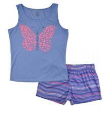 Calvin Klein Girls 2Pc Purple Short Pajama Set Size 5/6 7/8 10/12 14/16