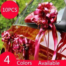 10PCS Wedding Car Wrap Florist Large Pull Bows Ribbon Pew Party Decorations