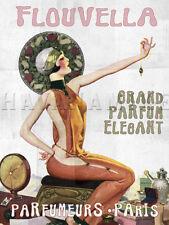 PARIS FRANCE Travel Art Photo Print Pinup Poster FLOUVELLA PERFUME Pin Up Girl