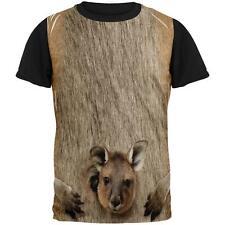 Halloween Kangaroo Costume All Over Mens Black Back T Shirt