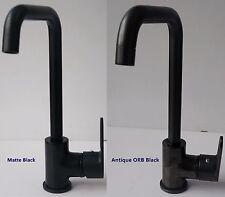 Modern Brass Kitchen Sink Mono Bloc Swivel Single Lever Mixer Black ORB Tap