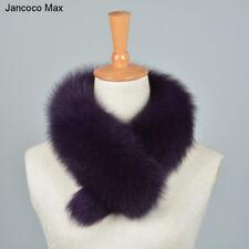 Women New Real Fox Fur Clip Wearing Scarf Collar Shrug Wraps Neck Warmer 37204