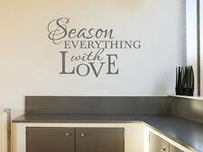 """Cuisine mur citation """"saison tout..."""", wall art autocollant, transfert, autocollant vinyle"""