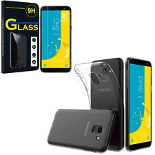 """Etui Coque Silicone Gel UltraSlim + Film Verre Samsung Galaxy J6 (2018) 5.6"""""""