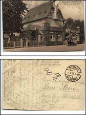 1918 Feldpostkarte ab BERLIN Grunewald mit Auto vor Restaurant Hundekehle War I
