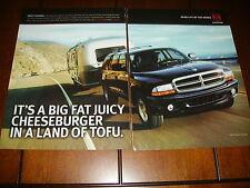 2002 DODGE DURANGO - AIRSTREAM TRAILER  ***ORIGINAL 2 PAGE AD***