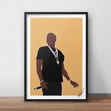 Jay-Z Inspiré Wall Art Print/Poster Minimal A4 A3 Jay Z Rap 99 problèmes