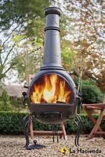 Cast Iron Steel Chimenea Chiminea Patio Heater BBQ Fire Pit Garden Outdoor NEW