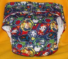 Adult New AIO Reusable Super Absorbent Cloth Diaper S,M,L,XL Paw Patrol on Blue
