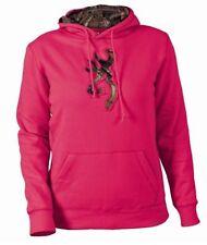 2015 WOMENS Browning Buckmark Camo Logo Sweatshirt Hoodie FUCHSIA -5 SIZES!