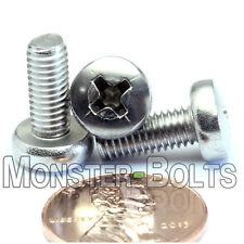 M5 x 12mm  Stainless Steel Phillips Pan Head Machine Screws, Cross Recessed A2