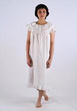 Madeline Ladies Cotton Cap Sleeve Embroided Nightgown / Sleepwear / Nightie