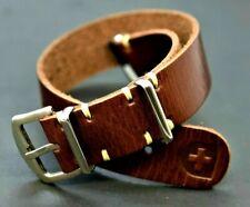Nato strap Leder Armband Uhrenarmbänder  Omega Band 18-24mm ZULU strap Vintage