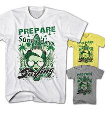 Herren T-Shirt Sunny Day Surfing Panda Wind Surf Beach Party Neu S-5XL SD9316