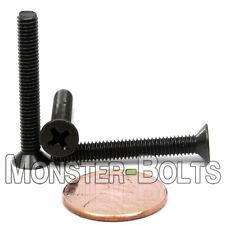 M4 x 30mm Phillips Flat Head Machine Screws, Steel w Black Ox Countersunk DIN965